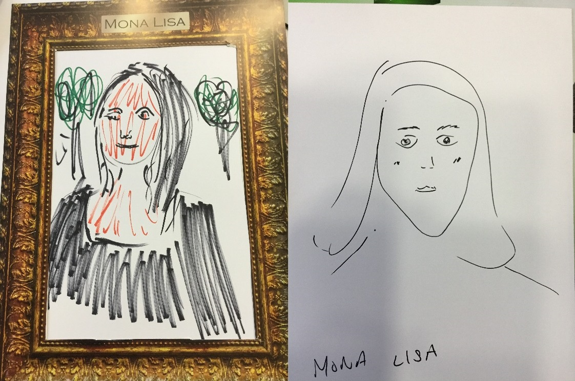 Mona Lisa drawings