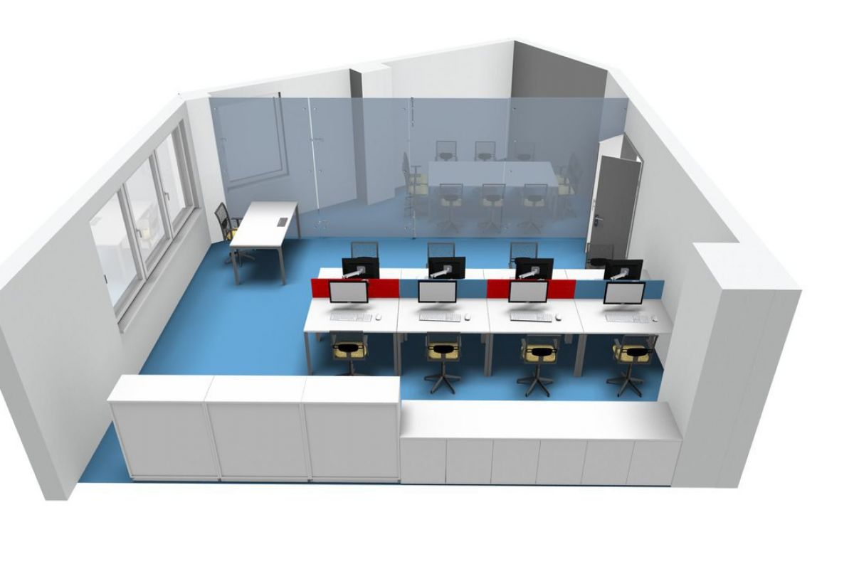 CAD model of office design